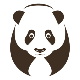 Big Panda Decal (Brown)