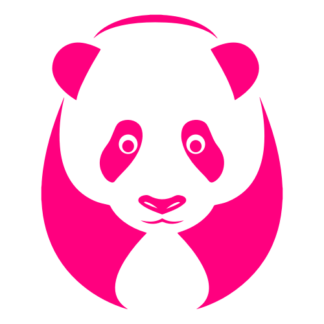 Big Panda Decal (Hot Pink)