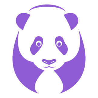 Big Panda Decal (Lavender)