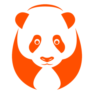 Big Panda Decal (Orange)