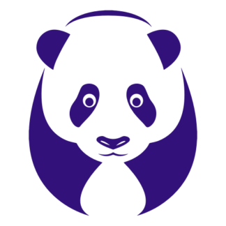 Big Panda Decal (Purple)