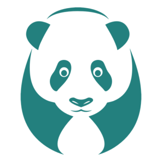 Big Panda Decal (Turquoise)