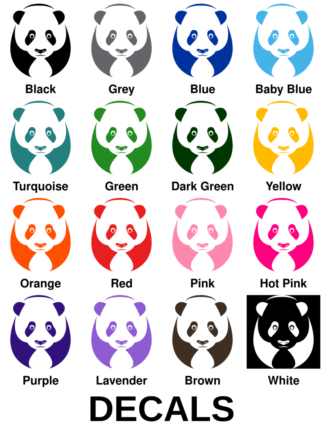 Big Panda Decals