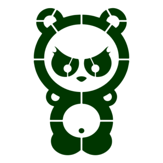 Dangerous Panda Decal (Dark Green)