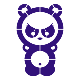 Dangerous Panda Decal (Purple)