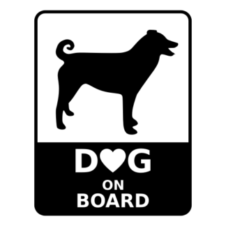 Dog On Board Decal (Black)