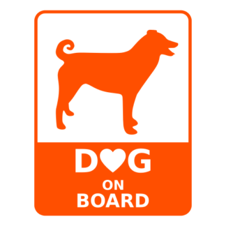 Dog On Board Decal (Orange)