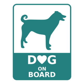 Dog On Board Decal (Turquoise)