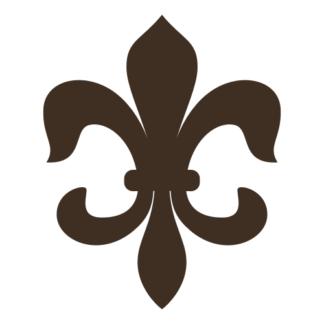 Fleur-de-lis Decal (Brown)