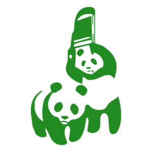 Funny Panda Fight Decal