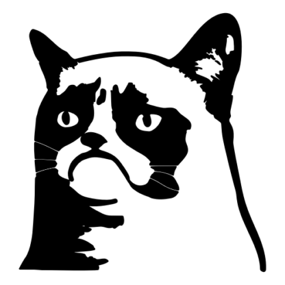 Grumpy Cat 2 Decal (Black)