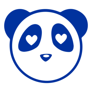 Heart Eyes Panda Decal (Blue)