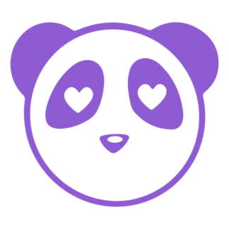 Heart Eyes Panda Decal (Lavender)