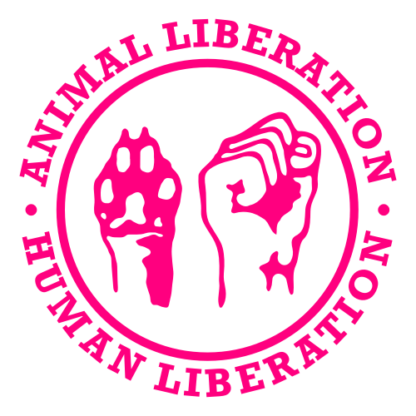 Human Liberation Animal Liberation Decal (Hot Pink)