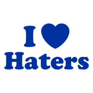 I Love Haters Decal (Blue)