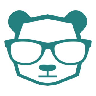 Intellectual Panda Wearing Glasses Decal (Turquoise)
