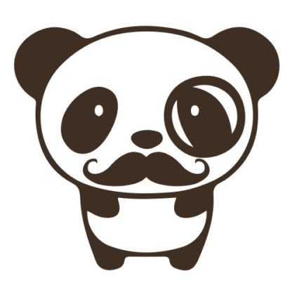 Mr. Panda Moustache Decal (Brown)