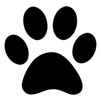 Paw Decal (Black)