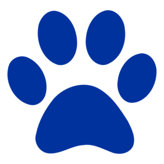 Paw Decal (Blue)
