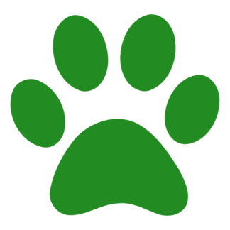 Paw Decal (Green)