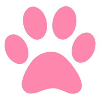 Paw Decal (Pink)