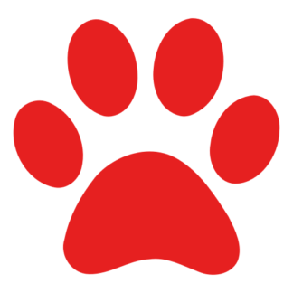 Paw Decal (Red)
