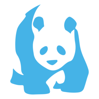 Realistic Giant Panda Decal (Baby Blue)