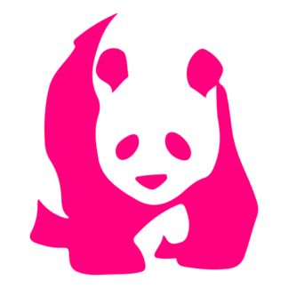 Realistic Giant Panda Decal (Hot Pink)