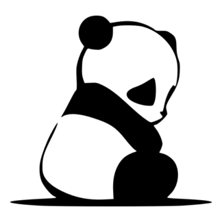Sad Panda Decal (Black)