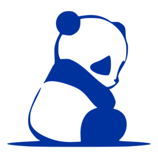 Sad Panda Decal (Blue)