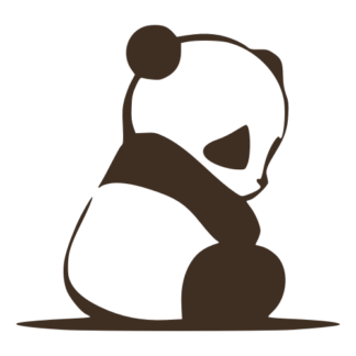 Sad Panda Decal (Brown)