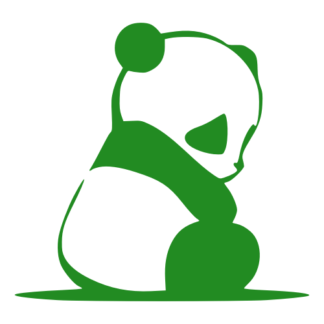 Sad Panda Decal (Green)