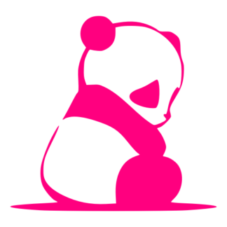 Sad Panda Decal (Hot Pink)