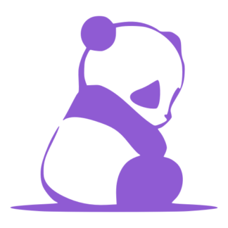 Sad Panda Decal (Lavender)