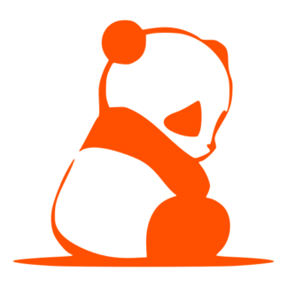 Sad Panda Decal (Orange)