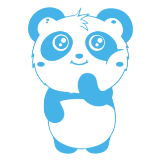 Shy Panda Decal (Baby Blue)