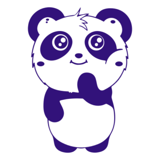 Shy Panda Decal (Purple)