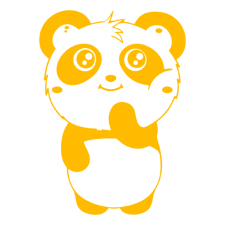 Shy Panda Decal (Yellow)