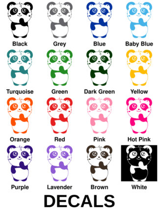 Shy Panda Decals