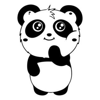 Shy Panda Decal