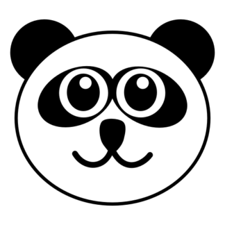 Smiling Panda Decal (Black)