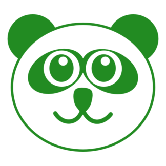 Smiling Panda Decal (Green)