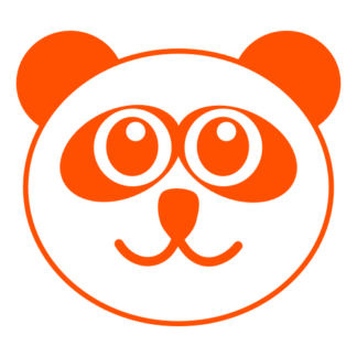 Smiling Panda Decal (Orange)