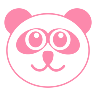 Smiling Panda Decal (Pink)