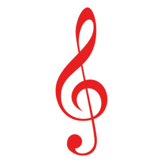 Treble Clef Decal (Red)