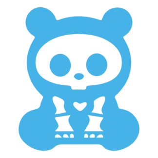 X-Ray Panda Decal (Baby Blue)