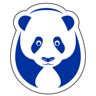 Big Panda Sticker (Blue)