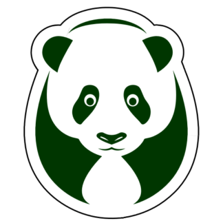 Big Panda Sticker (Dark Green)