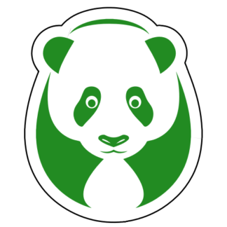 Big Panda Sticker (Green)