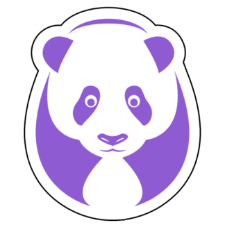 Big Panda Sticker (Lavender)